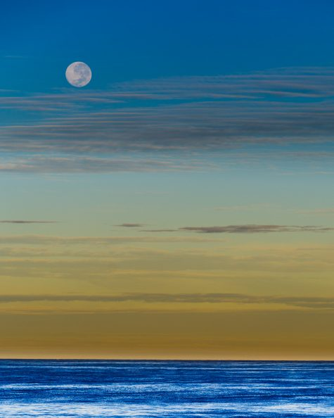 Moon Setting in Scarborough Beach